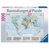 Ravensburger - 1000pc Political World Map Jigsaw Puzzle 15652-8