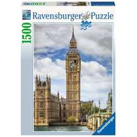 Ravensburger - 1500pc Funny Cat on Big Ben Jigsaw Puzzle