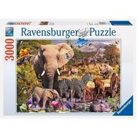 Ravensburger - 3000pc African Animal World Jigsaw Puzzle 17037-1