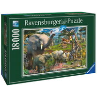 Ravensburger - 18000pc At the Waterhole Jigsaw Puzzle 17823-0