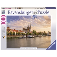 Ravensburger - 1000pc Old Town Regensburg Jigsaw Puzzle 19781-1