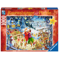 Ravensburger - 1000pc Santas Christmas Party Jigsaw Puzzle 19893-1