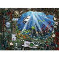 Ravensburger - 759pc ESCAPE 4 Submarine Jigsaw Puzzle 19959-4