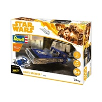 Revell 1/164 Star Wars Build & Play Han's Speeder with Light & Sound Plastic Model Kit