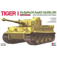 Rye Field Models 1/35 Tiger I Initial Production Early 1943 w/ Full Interior & Workable Track Links 5001 Plastic Model Kit