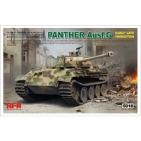 Rye Field Models 1/35 Panther Ausf.G Early/Late Production w/ Workable Track Links 5018 Plastic Model Kit