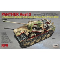Rye Field Models 1/35 Panther Ausf.G w/ Full Interior & Cut Away Parts & Workable Track Links 5019 Plastic Model Kit