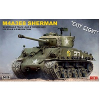 Ryefield 5028 1/35 Sherman M4A3E8 w/workable track links Plastic Model Kit