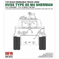 Ryefield 5034 1/35 Hvss t80-track for M4 Sherman Plastic Model Kit