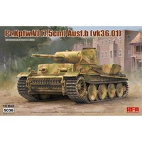 Ryefield 5036 1/35 Pz.kpfw.VI Ausf.b (vk36.01) w/workable track links Plastic Model Kit