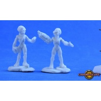 Reaper Miniatures - Gray Alien Leaders