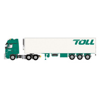 Road Ragers 1/50 2019 TOLL Mercedes MP04 Prime Mover With Single Reefer TOLL Trailer