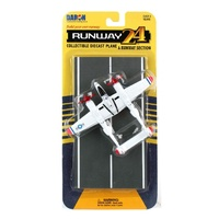 Daron Runway24 - P-35 Lightning Red Tip Diecast Aircraft