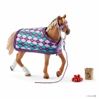 Schleich - English Thoroughbred with blanket 42360