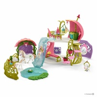 Schleich - Glittering flower house with unicorns, lake and stable 42445