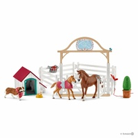 Schleich - Horse Club Hannah's guest horses with Ruby the dog 42458