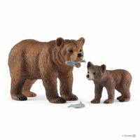 Schleich - Grizzly bear mother with cub 42473