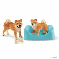 Schleich - Shiba Inu mother and puppy 42479