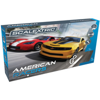 Scalextric American Racers Slot Car Set