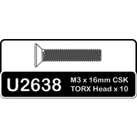 Schumacher TORX SCREW - M3 X 1 6 CSK -