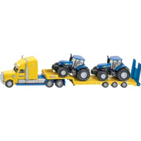 Siku 1/87 Truck with 2 New Holland Tractors SI1805