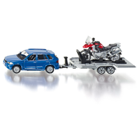 Siku 1/50 Car With Motorbike and Trailer SI2547