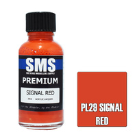 Scale Modellers Supply Premium Signal Red 30ml PL29 Laquer Paint