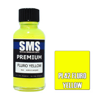 Scale Modellers Supply Premium Fluro Yellow 30ml PL42 Laquer Paint