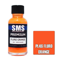 Scale Modellers Supply Premium Fluro Orange 30ml PL46 Laquer Paint