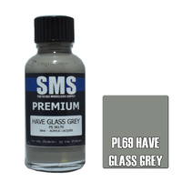 Scale Modellers Supply Premium Have Glass Grey 30ml PL69 Laquer Paint
