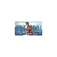 Blue hawaii Elvis License Plate Tin Sign 6 x 12 SO12053
