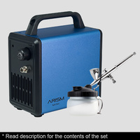 Sparmax ARISM Mini S.Blue with Max-3 Airbrush Combo