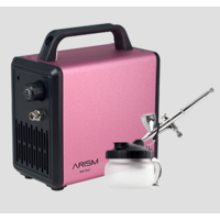 Sparmax ARISM Mini S.Pink with Max-3 Airbrush Combo