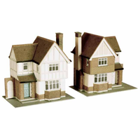 Superquick OO Two Detatched Houses Card Kit