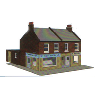 Superquick OO Redbrick Terrace Corner Card Kit