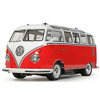 Tamiya 1/10 Volkswagen Type 2 (T1) - Pre Painted Red & White M-06 Chassis, 2WD RC LIMITED EDITION