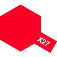 Tamiya Enamel X-27 Clear Red 10mL Paint 80027