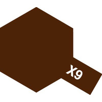 Tamiya Acrylic Mini X-9 Brown 10mL Paint 81509