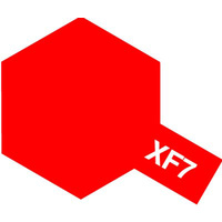 Tamiya Acrylic Mini XF-7 Flat Red 10mL Paint 81707