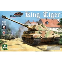 Takom 1/35 King Tiger Porsche Turret w/interior, without Zimmerit Plastic Model Kit 2074S