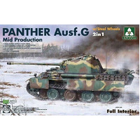 Takom 2120 1/35 WWII German Panther Ausf.G Mid production w/ Steel Wheels 2 in 1 Plastic Model Kit