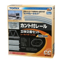 Tomytec Canted Track 3D Crossing Set (Layout CC)