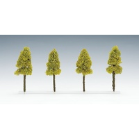 Tomix N Scale Deciuous Tree (Light Green/ 4pcs) 081869