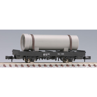 Tomix N Flat Car 4 Wheel with Pipe TO2721