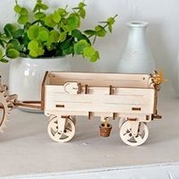UGears Trailer for Tractor Wooden Model