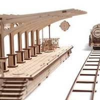 UGears Railway Platform Wooden Model