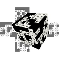 V-Cube Crossword Cube 3x3 Puzzle