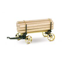 Wilesco A426 Lumber Wagon Black and Brass