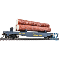 Walthers HO Trainline Log Car Chessie Chessie/Baltimore & Ohio #9300 (blue, yellow)