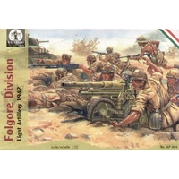 Waterloo 1/72 Folgore Division Light Artillery Plastic Model Kit